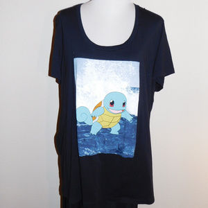 5 5X Pokemon Squirtle Short Sleeve Knit Top